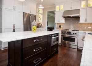 Naperville Custom White-Black Kitchen Remodeling