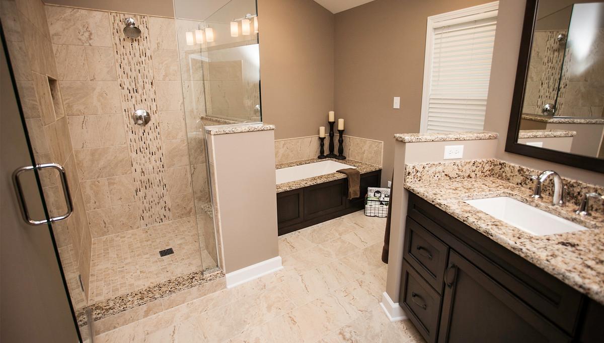 Modernized master bathroom designing remodeling naperville for Bathroom remodeling naperville