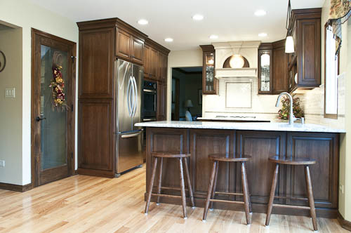 Beautiful Cherry Cabinetry With Natural Red Oak Floors