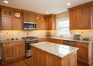 Wheaton Kitchen Remodeling With Wood Custom Cabinets