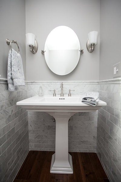 Powder room panache - Powder room tile ideas ...