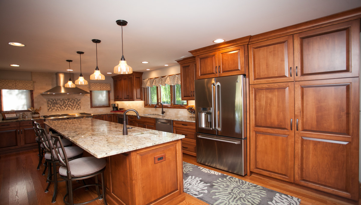 Ever Pleasing In Plainfield River Oak Cabinetry Design