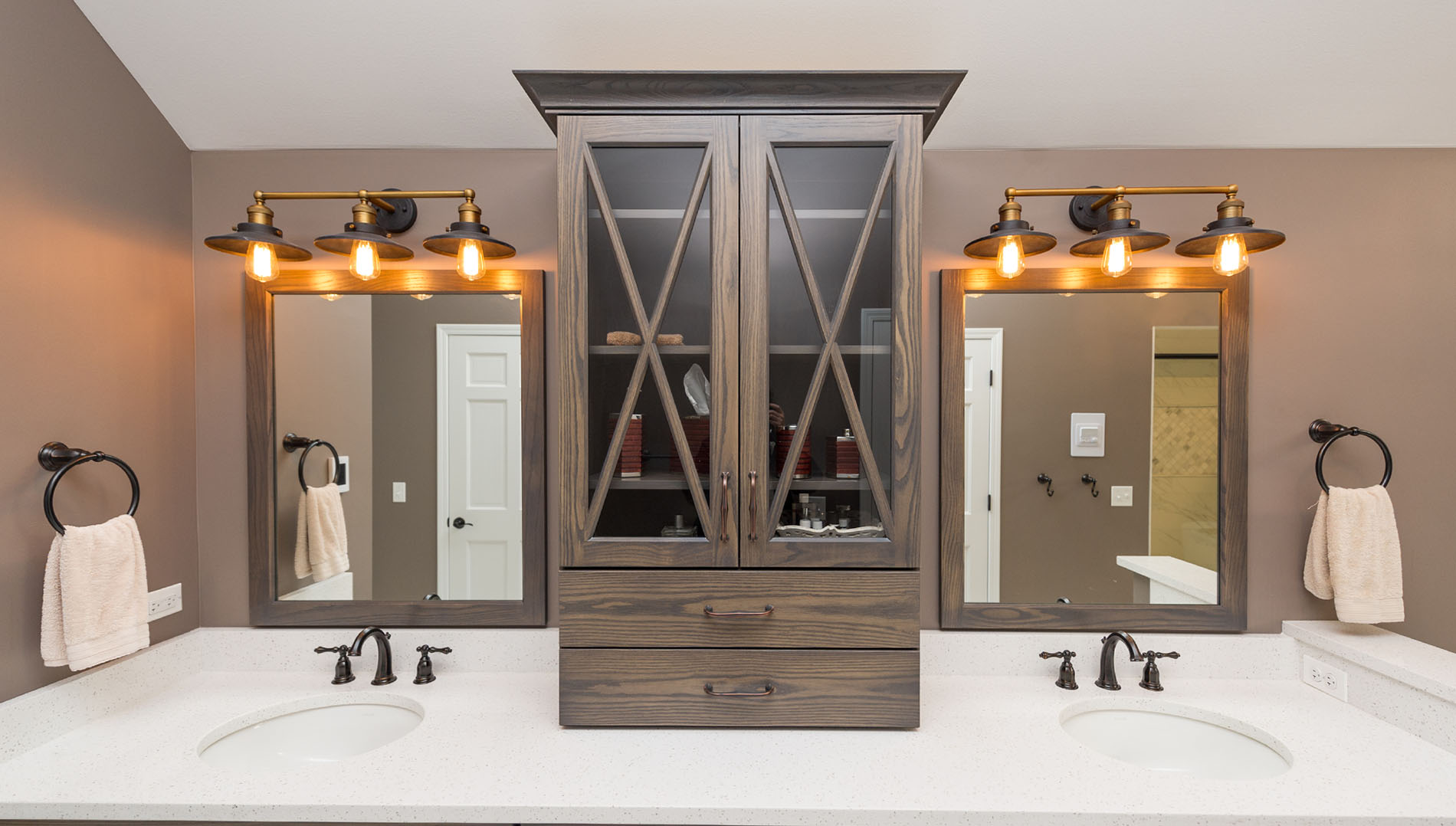 Wondrous In Winding Creek Part 1 Master Bath River Oak Cabinetry Design